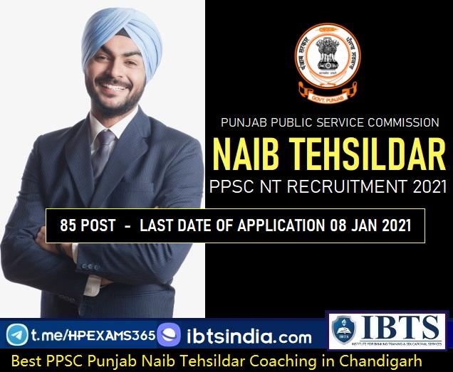 Punjab Naib Tehsildar Coaching in Chandigarh